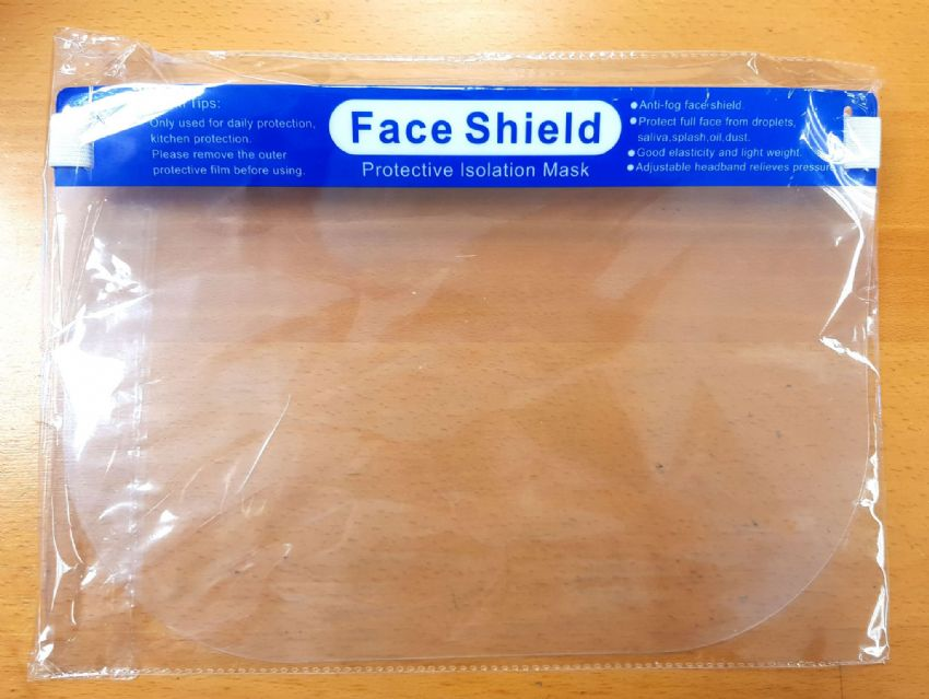 Face Shield - Elasticated & Padded Head Strap